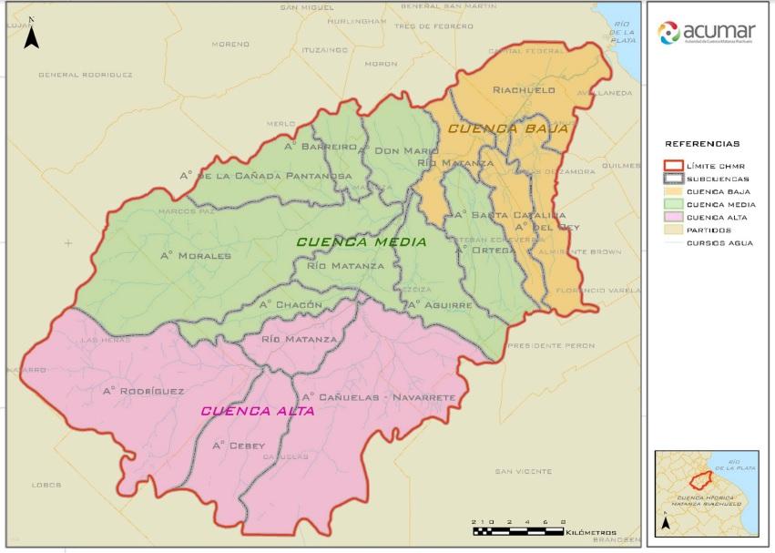 mapa subcuencas